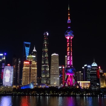 Atemberaubende Skyline Shanghais