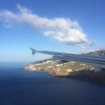 Spektakuläre Landung auf Madeira