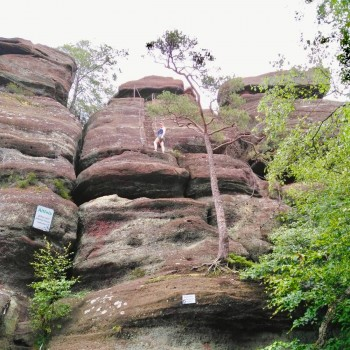 Aufstieg auf den Altfels