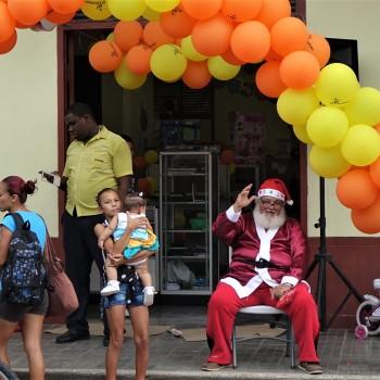 Weihnachtsmann ist reisefreudig