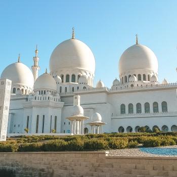 Scheich-Zayid-Moschee von Vorne