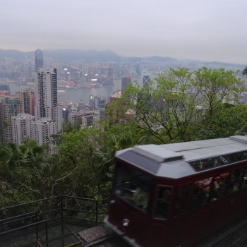 Victoria Peak - per Zahnradbahn zur Aussicht auf Hong Kong