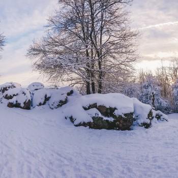 Litermont-Gipfel bei Schnee
