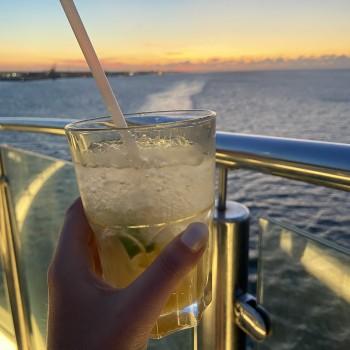 Cocktail mit Aussicht