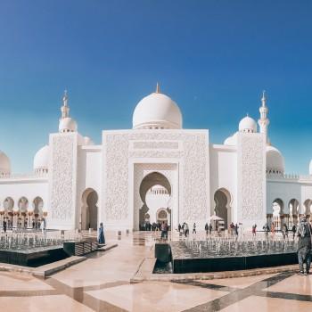 Scheich-Zayid-Moschee Seitenansicht