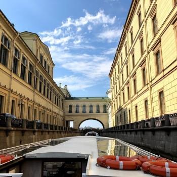 Sankt Petersburg mit dem Boot