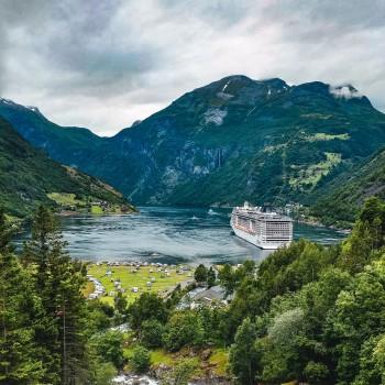 Blick auf den Geirangerfjord