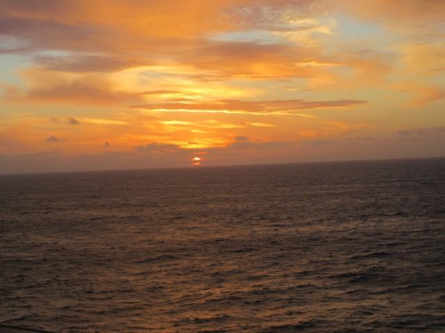 Sonnenaufgang am Seetag