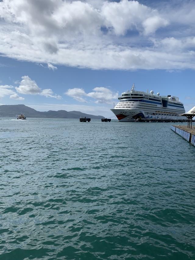 AIDAluna im Hafen von Fort-de-France
