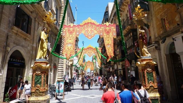 Fussgängerzone in Valetta
