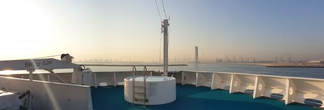 Einlaufen in Dubai mit AIDAvita