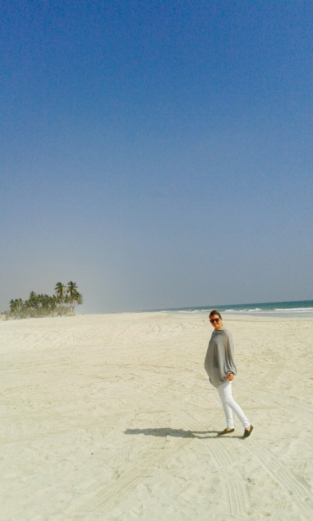 Weißer Sandstrand im Oman