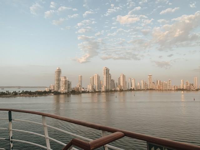 Das Einlaufen in Cartagena ist atemberaubend, da lohnt sich das frühe Aufstehen! ????