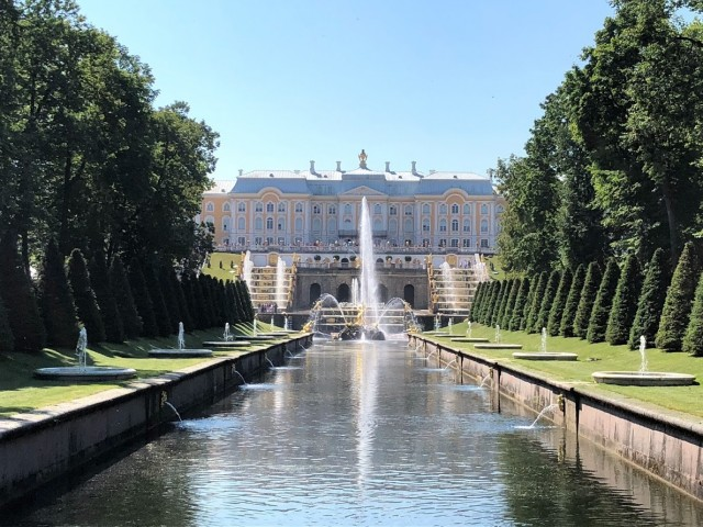 Der malerische Garten am Peterhof
