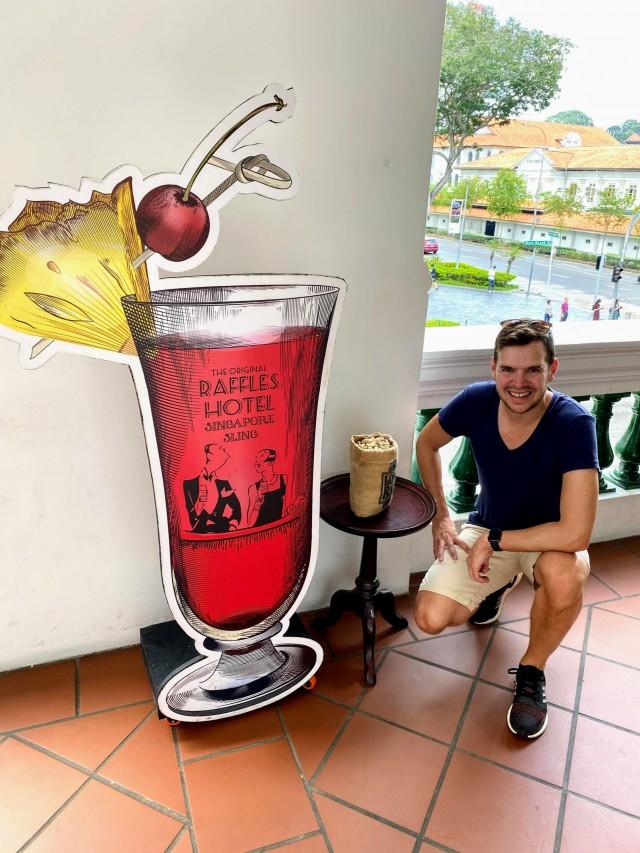 Singapur Sling in der Long Bar