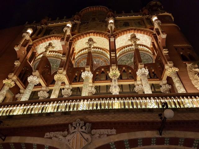 Barcelona bei Nacht - Palau de la Musica
