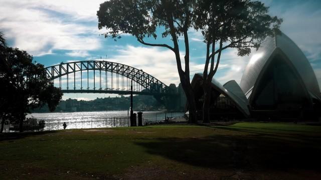 Opernhaus Sydney und Harbour Bridge