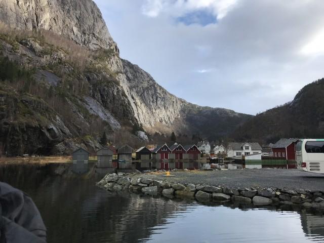 Akrafjord und Langfoss Wasserfall