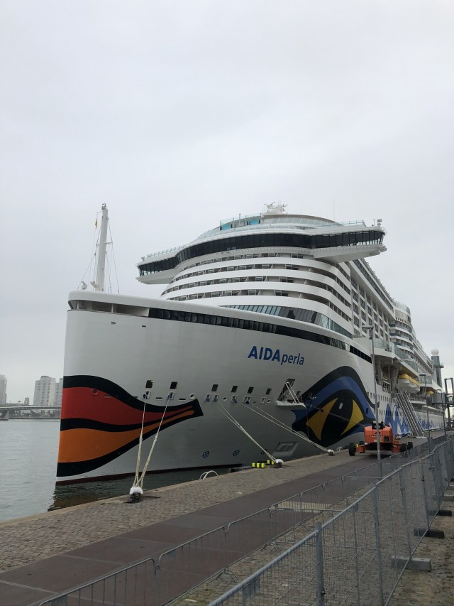 Perla im Hafen