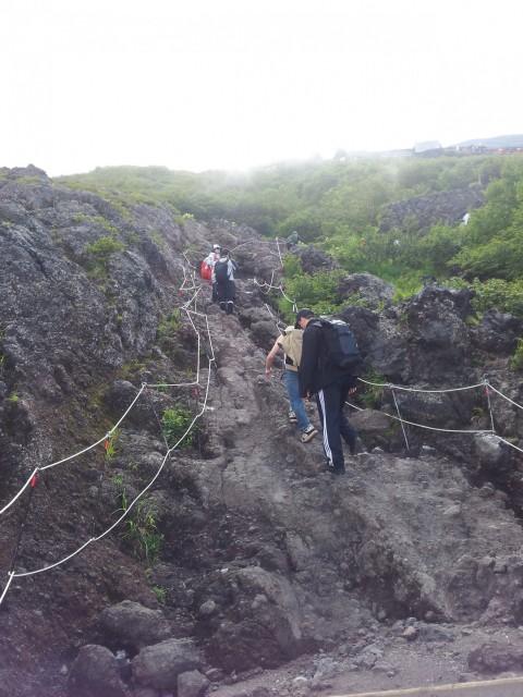 Steile Kletterpartien