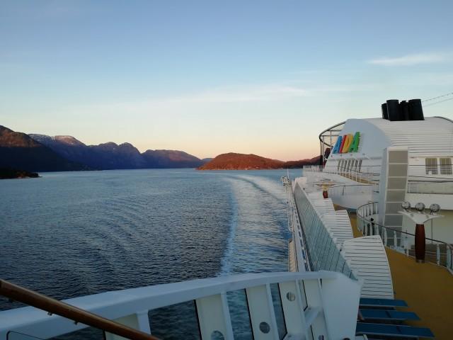 Sonnenaufgang Richtung Eidfjord