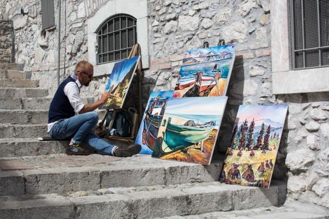 Straßenkünstler in Catania