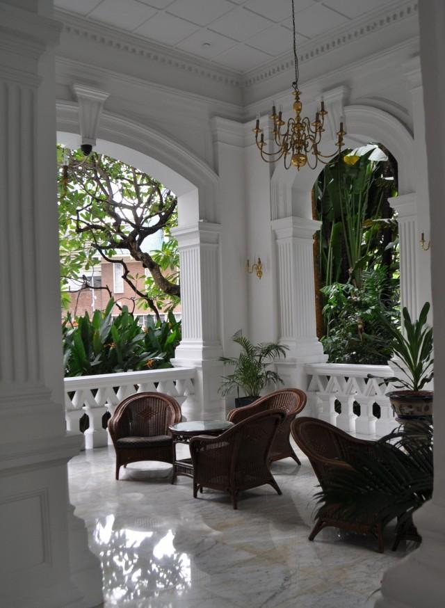 Das koloniale Hotel Ruffle