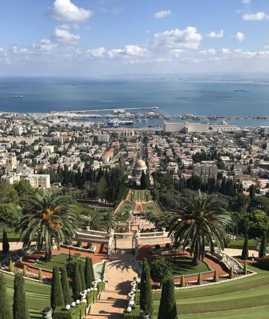 Baha'i Tempel und hängende Gärten