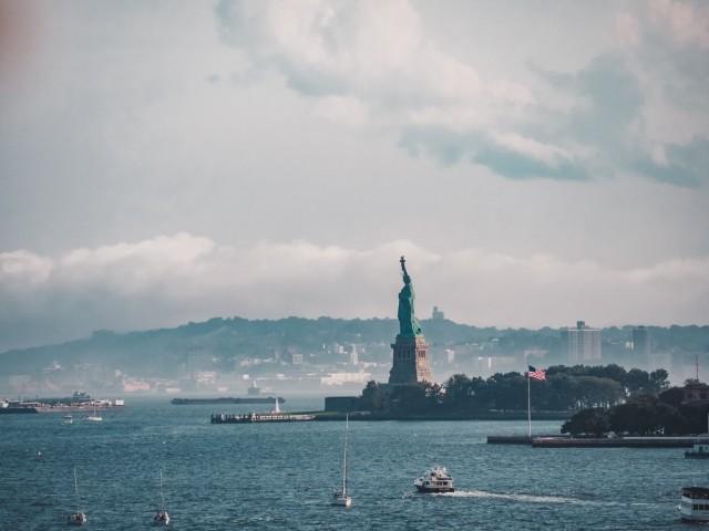 Klassischer Blick auf die Freiheitsstatue