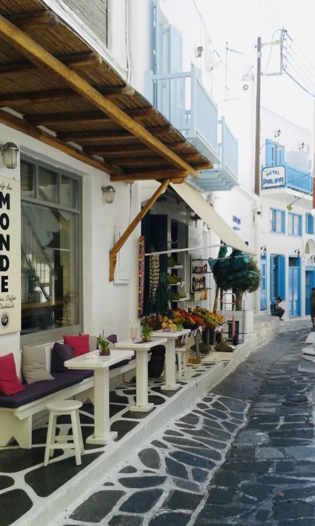 Blau-Weiße Gassen auf Mykonos