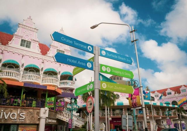 Die Innenstadt von Oranjestad