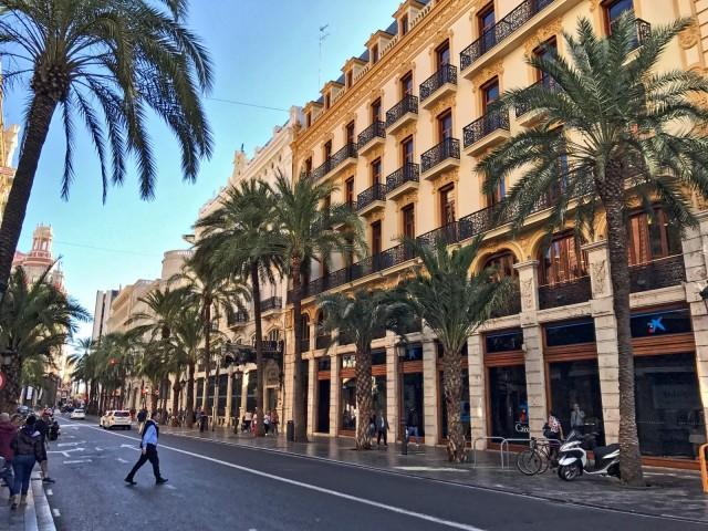 Die Innenstadt von Valencia