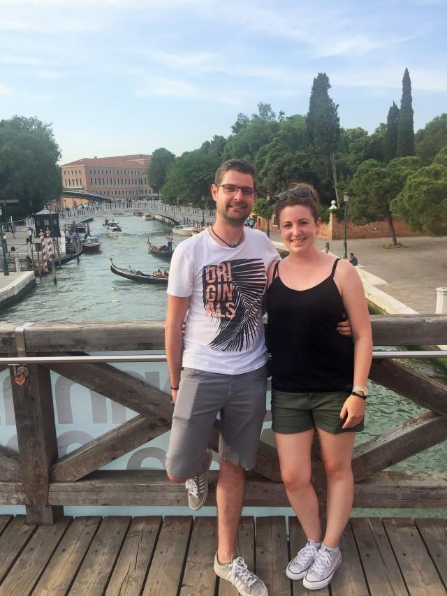 """Erinnerungsfoto nach einem """"Brückentag"""" in Venedig ;-)"""