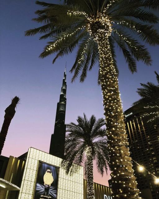 Burj Khalifa am Abend