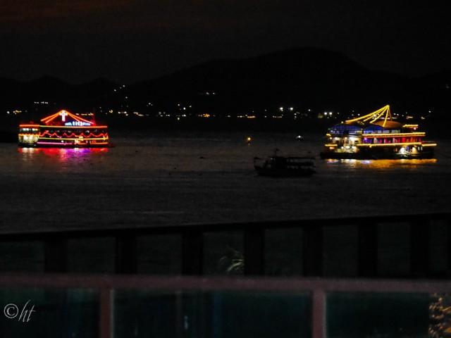 Abends im Hafen von Laem Chabang