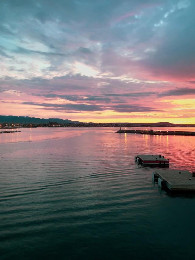Sonnenaufgang im Hafen von Palma
