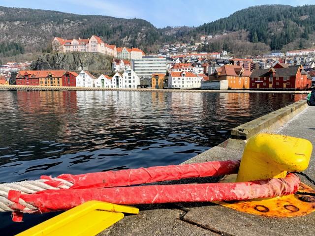 Unser Liegeplatz in Bergen