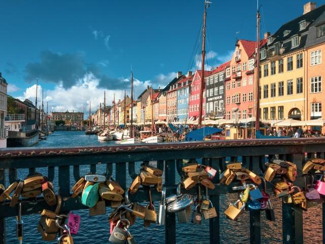 Liebes-Schlösser in Nyhavn