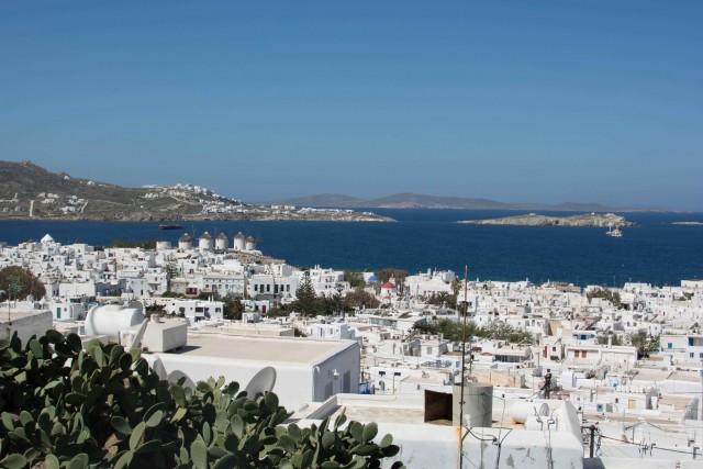 Panorama über Mykonos