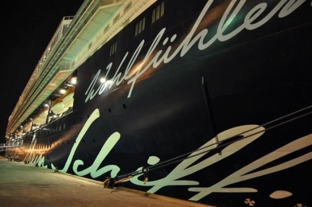 Mein Schiff Herz bei Nacht
