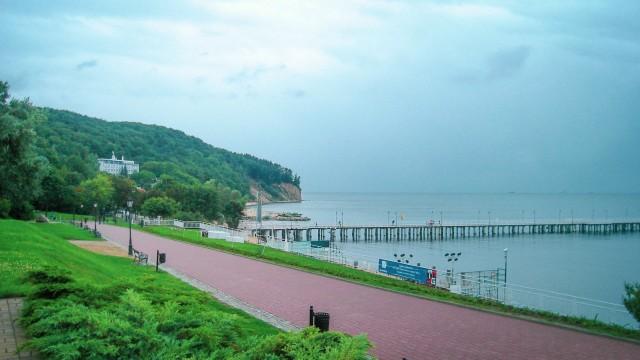 Außerhalb Danzigs: Spazieren und flanieren am Strand