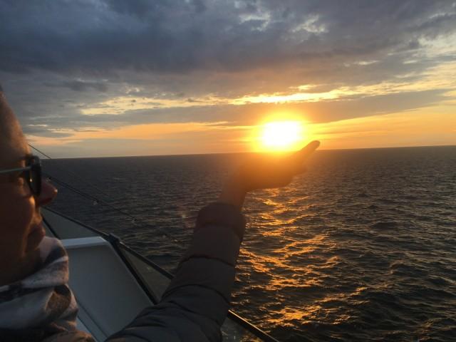 Sonnenuntergang um 22:00 in Schweden