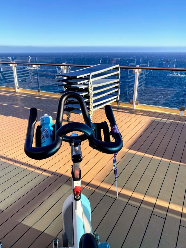 Freiluft Radfahren auf hoher See
