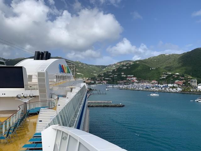 Wunderschöne Aussicht direkt vom Schiff