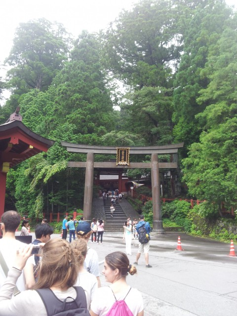 Das Torii der Tempelanlage in Nikkō