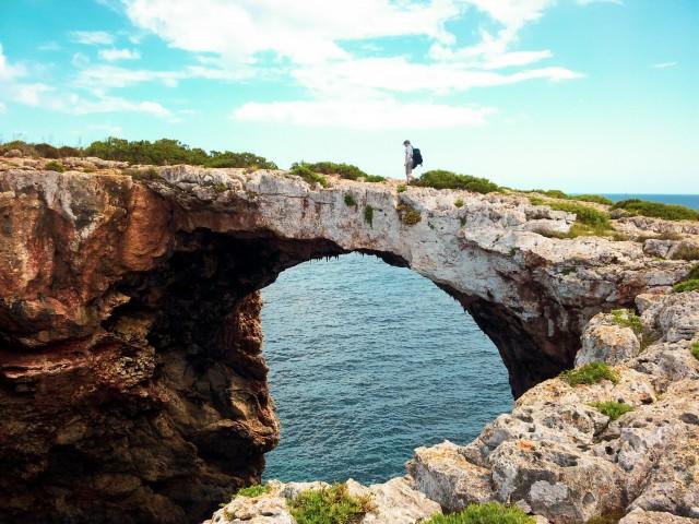 """Auf dem Felsentor """"Puente Natural"""""""