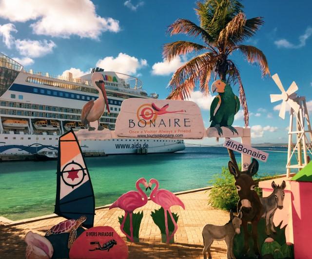 AIDAdiva auf Bonaire