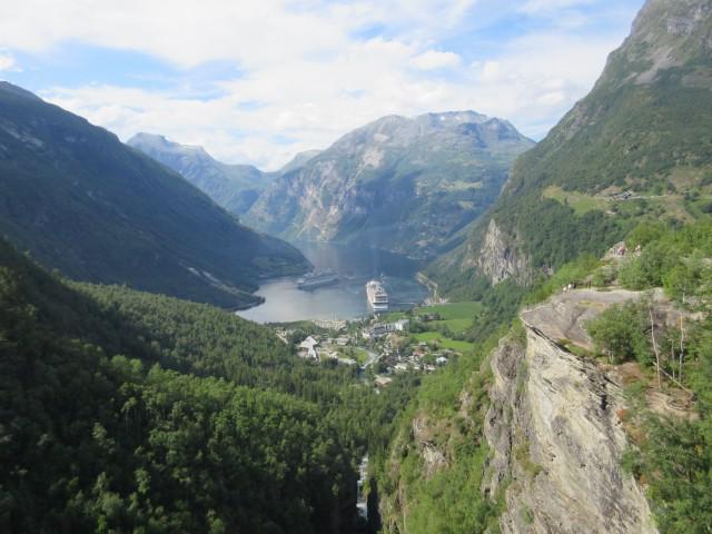 Blick in den Geiranger-Fjord