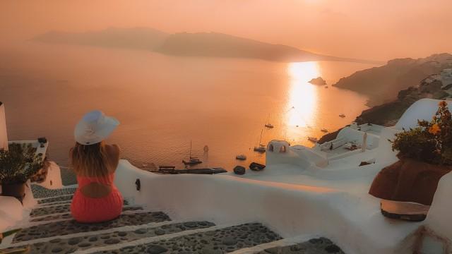 Sonnenuntergang in Santorin