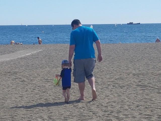 Das erste mal am Strand